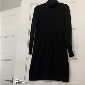 J.Crew Black sweater dress with POCKETS!